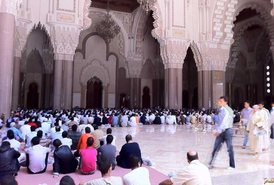 friday prayers at hassan 2 mosque
