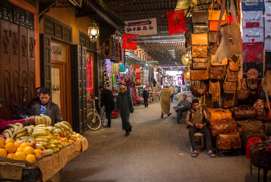 the souk of marrakech medina