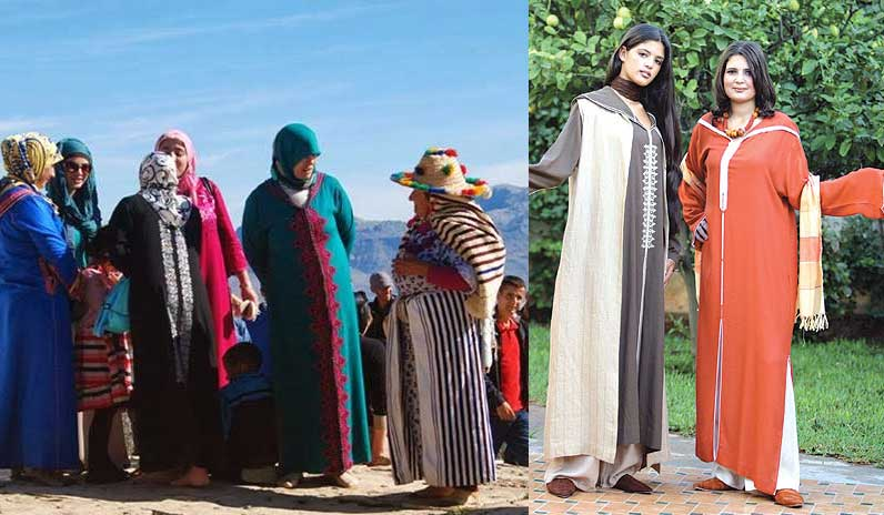 What type of clothes do Morocco people wear?