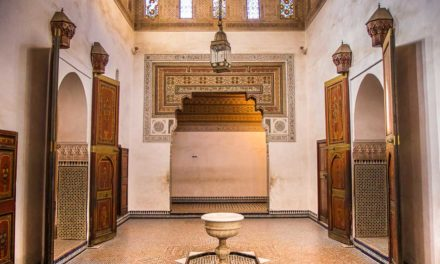 The historical Bahia Palace in Marrakesh
